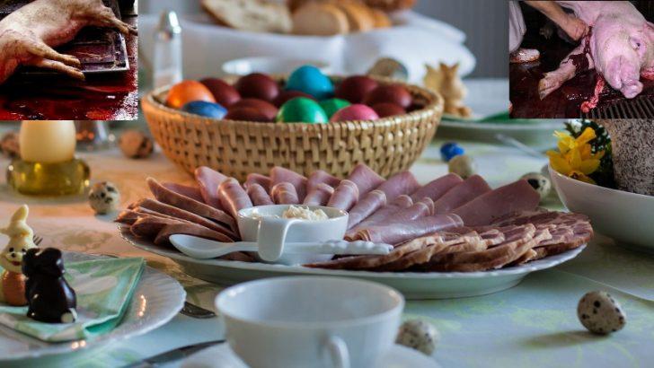 Velikonočna šunka – krvavi dar bogu Balu, podoba Jezusa, Kristusa ali nečista mrhovina